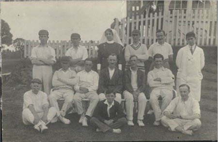 Image 6: Exminster Hospital Cricket Team (Source: Exminster Archives, uncatalogued)
