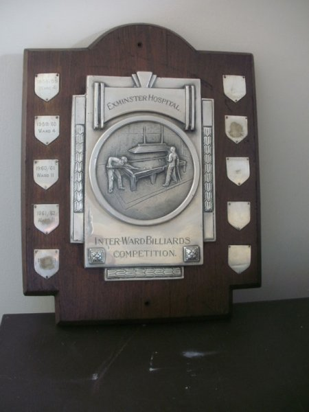 Image 7: Exminster Hospital Billiard Trophy (Source: Exminster Archives, uncatalogued)